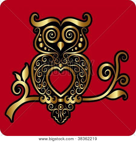 Golden Owl Ornament