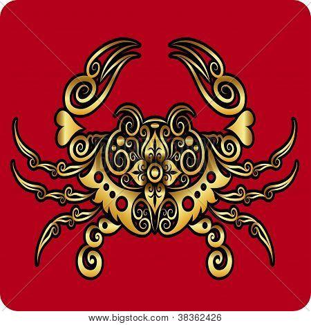 Golden Crab Ornament