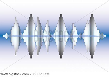 Music Wave Neon Background. Pulse Music Player Logo. Vector Colorful Equalizer Element. Sound Wave I