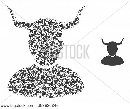 Vector Horned User Composition Is Designed From Repeating Self Horned User Items. Fractal Mosaic Fro