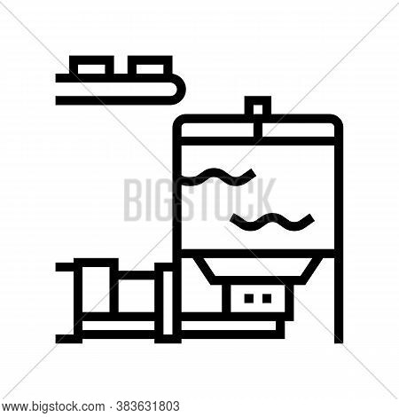 Blow Tank Line Icon Vector. Blow Tank Sign. Isolated Contour Symbol Black Illustration