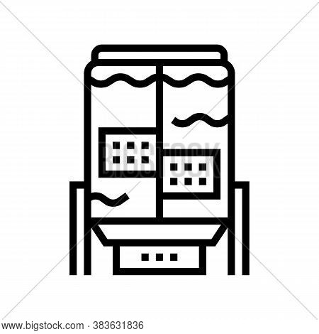 Paper Factory Equipmet Line Icon Vector. Paper Factory Equipmet Sign. Isolated Contour Symbol Black