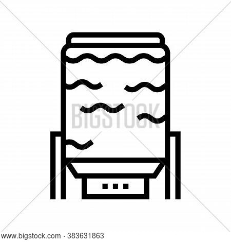 Oxygen Delignification System Line Icon Vector. Oxygen Delignification System Sign. Isolated Contour