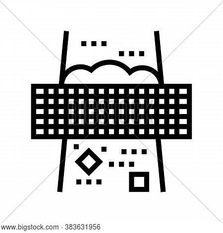 Filtration Machine Line Icon Vector. Filtration Machine Sign. Isolated Contour Symbol Black Illustra