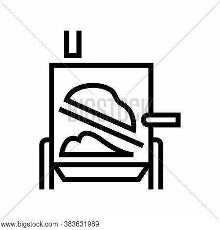 Evaporator System Line Icon Vector. Evaporator System Sign. Isolated Contour Symbol Black Illustrati
