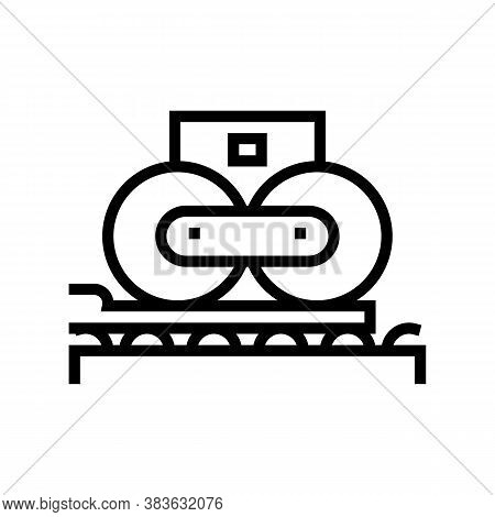 Paper Pressing System Line Icon Vector. Paper Pressing System Sign. Isolated Contour Symbol Black Il