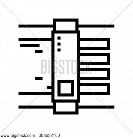 Paper Cut Equipment Line Icon Vector. Paper Cut Equipment Sign. Isolated Contour Symbol Black Illust