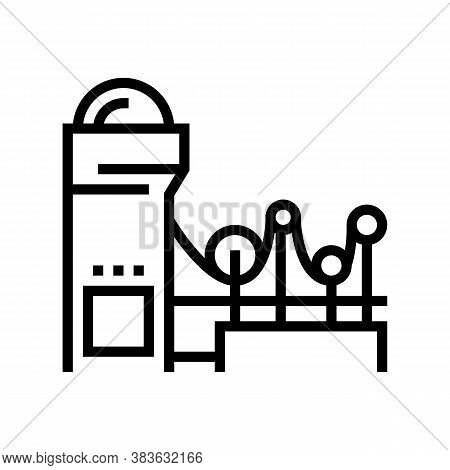 Paper Making System Line Icon Vector. Paper Making System Sign. Isolated Contour Symbol Black Illust