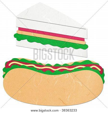 Rice Paper Cut Hotdog And Sandwich