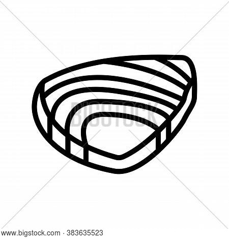 Tuna Meat Fillet Line Icon Vector. Tuna Meat Fillet Sign. Isolated Contour Symbol Black Illustration