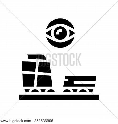 Paper Production Control Glyph Icon Vector. Paper Production Control Sign. Isolated Contour Symbol B