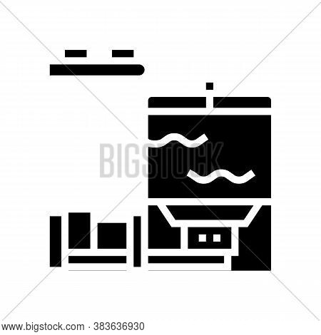 Blow Tank Glyph Icon Vector. Blow Tank Sign. Isolated Contour Symbol Black Illustration
