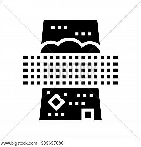 Filtration Machine Glyph Icon Vector. Filtration Machine Sign. Isolated Contour Symbol Black Illustr