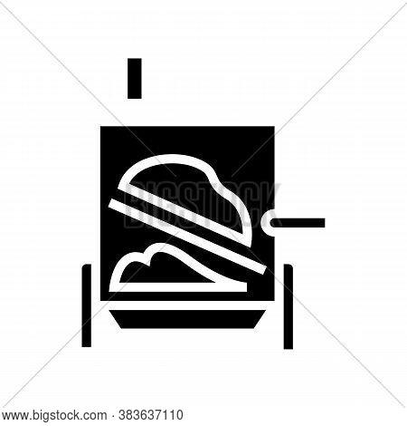 Evaporator System Glyph Icon Vector. Evaporator System Sign. Isolated Contour Symbol Black Illustrat