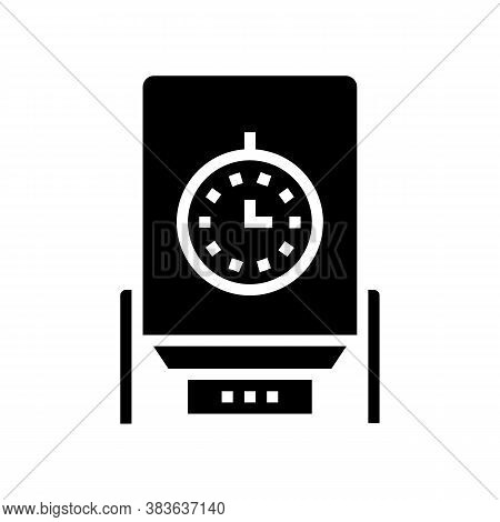 Paper Chips Dryer Machine Glyph Icon Vector. Paper Chips Dryer Machine Sign. Isolated Contour Symbol