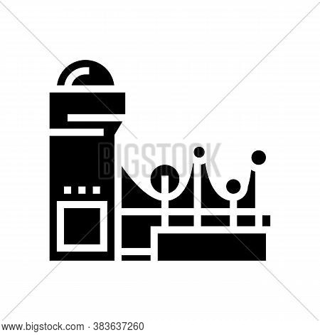 Paper Making System Glyph Icon Vector. Paper Making System Sign. Isolated Contour Symbol Black Illus