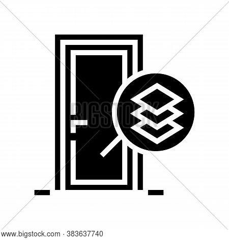 Medium Density Fibreboard Material Door Glyph Icon Vector. Medium Density Fibreboard Material Door S