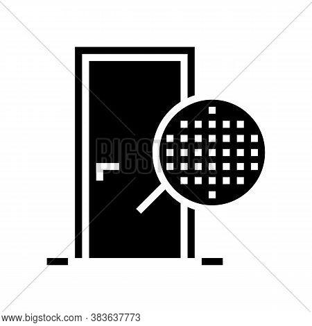 Veneer Material Door Glyph Icon Vector. Veneer Material Door Sign. Isolated Contour Symbol Black Ill