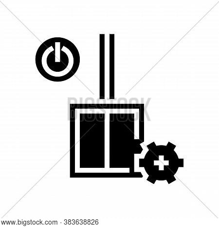 Switch Installation Glyph Icon Vector. Switch Installation Sign. Isolated Contour Symbol Black Illus