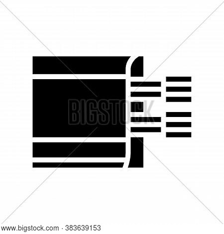Cable Laying In Skirting Board Glyph Icon Vector. Cable Laying In Skirting Board Sign. Isolated Cont