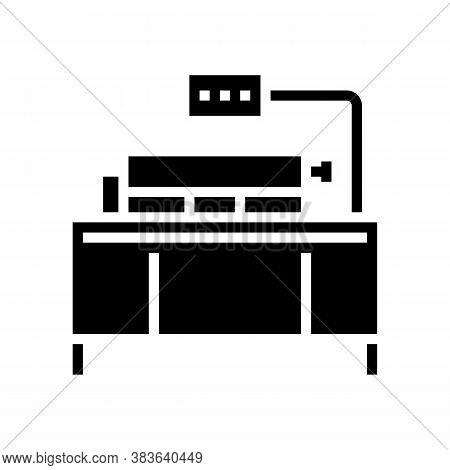 Coca Pressing Machine Glyph Icon Vector. Coca Pressing Machine Sign. Isolated Contour Symbol Black I