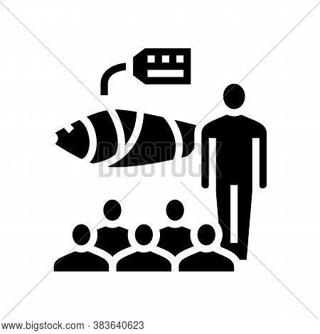 Tuna Auction Market Glyph Icon Vector. Tuna Auction Market Sign. Isolated Contour Symbol Black Illus