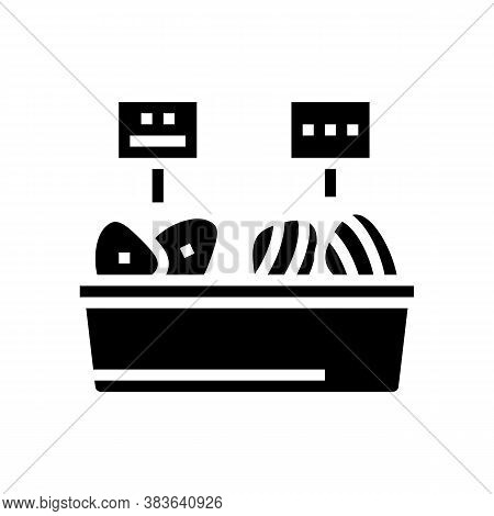 Tuna Fish Meat In Container Glyph Icon Vector. Tuna Fish Meat In Container Sign. Isolated Contour Sy