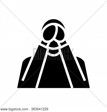 Loneliness Psychological Problems Glyph Icon Vector. Loneliness Psychological Problems Sign. Isolate