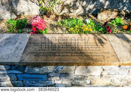 Ballyshannon , Ireland - August 22 2020 : Memorial Reminding Of Orphan Girls Leaving To Australia