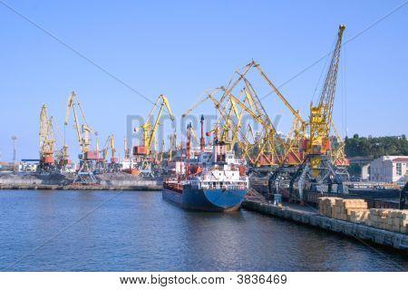 Cargo Ship At Ship Yards