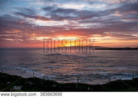 Sunset Above Aran Island - Arranmore - County Donegal, Ireland.