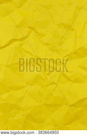 Textured Crumpled Green Paper Background. Vertical. Copy Space