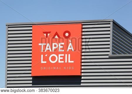 Mably, France - May 31, 2020: Tape a l\\\'oeil store. Tape a l\\\'oeil is a French ready-to-wear brand for children