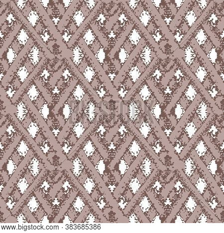 Vector Braid Effect Damask Weave Seamless Interlace Pattern Background. Woven Style Ribbon Plait Lat