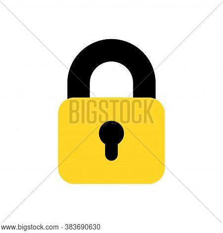 Lock Icon Vector. Lock Icon Flat Isolated On White Background. Lock Icon Simple And Modern For App,