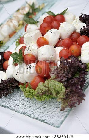 Tomato Salad With Buffalo Milk Mozzarella And Pepper