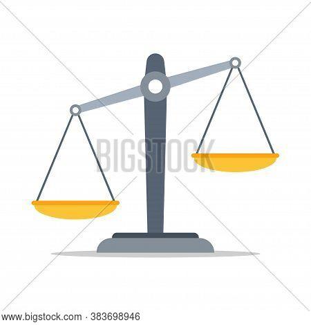 Scales Of Justice Icon. Law Balance Symbol.