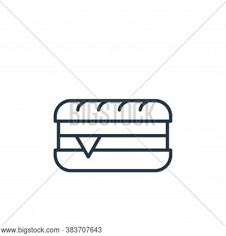 sandwich icon isolated on white background from bakery collection. sandwich icon trendy and modern s