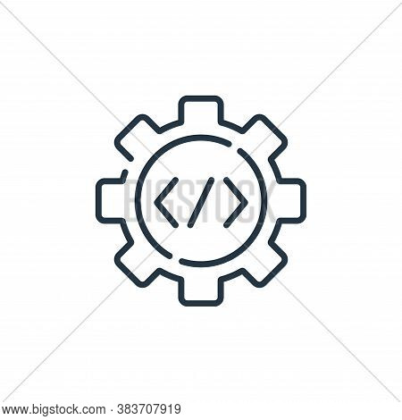 code optimisation icon isolated on white background from programming collection. code optimisation i