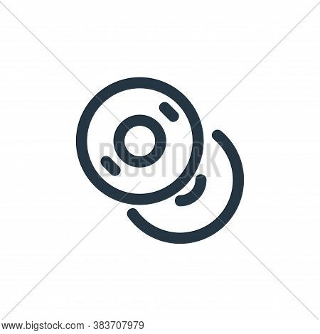 copy icon isolated on white background from disc tool line collection. copy icon trendy and modern c