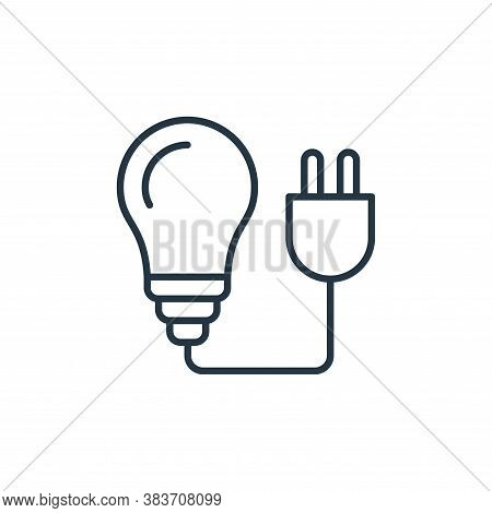 bulb icon isolated on white background from smarthome collection. bulb icon trendy and modern bulb s
