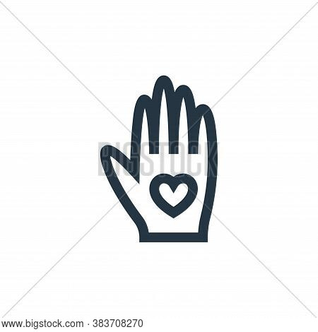 hand icon isolated on white background from mothers day collection. hand icon trendy and modern hand