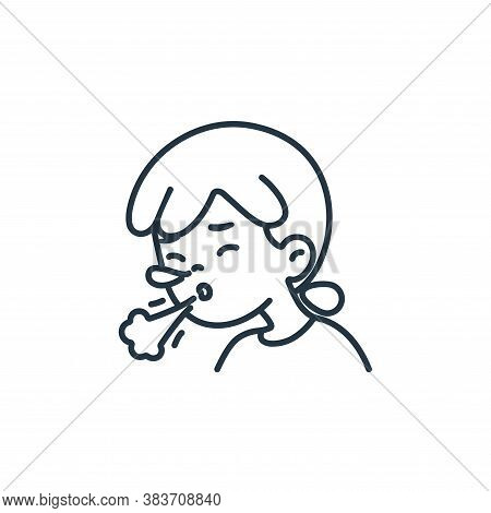 sneeze icon isolated on white background from air pollution collection. sneeze icon trendy and moder