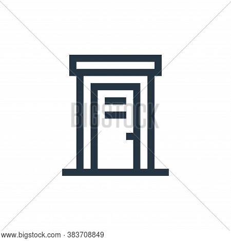 public toilet icon isolated on white background from music festival collection. public toilet icon t