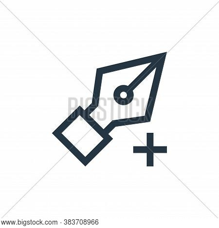 add point icon isolated on white background from vector editing collection. add point icon trendy an