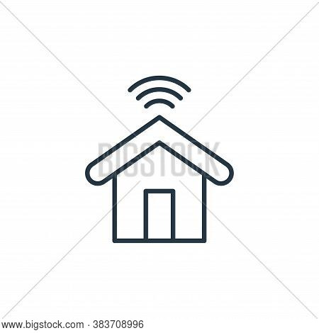 smart house icon isolated on white background from smarthome collection. smart house icon trendy and