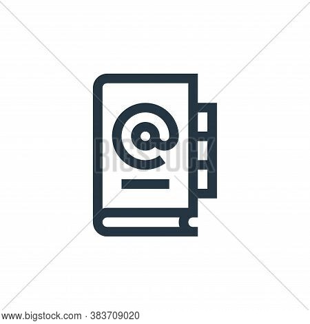 address book icon isolated on white background from message collection. address book icon trendy and