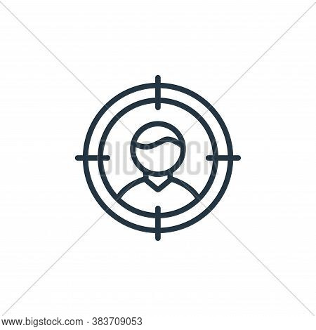target icon isolated on white background from seo and website collection. target icon trendy and mod