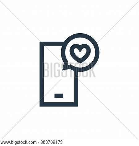smartphone icon isolated on white background from mothers day collection. smartphone icon trendy and