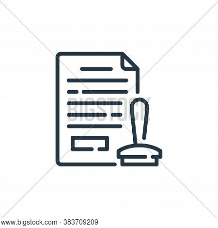 stamp icon isolated on white background from law and justice collection. stamp icon trendy and moder